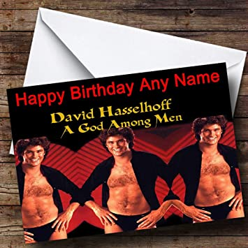 Personalised David Hasselhoff Birthday Card Amazon Office