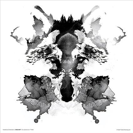 amazon com robert farkas rorschach ink blot style fox modern