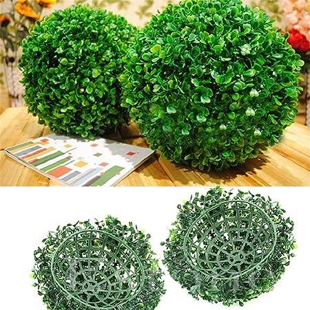 surenhap bola de boj artificial para exterior o interior, jardín, decoración interior, bodas y eventos especiales, 10 cm: Amazon.es: Hogar