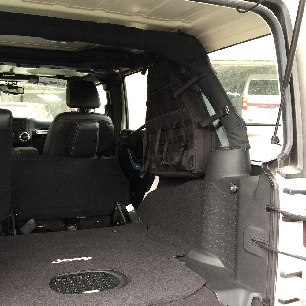 Lantsun 2 x Multi-Pockets Storage/&Roll Bar Bag Holder Cargo Bag Compatible with Jeep Wrangler JK Unlimited 4DR 07-17 J083 Ltd 2 Yr Warranty Lantsun Group Co