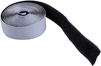 Sodialr Bande Ruban Scratch Velcro Hook Loop Autocollante 200cm Noir