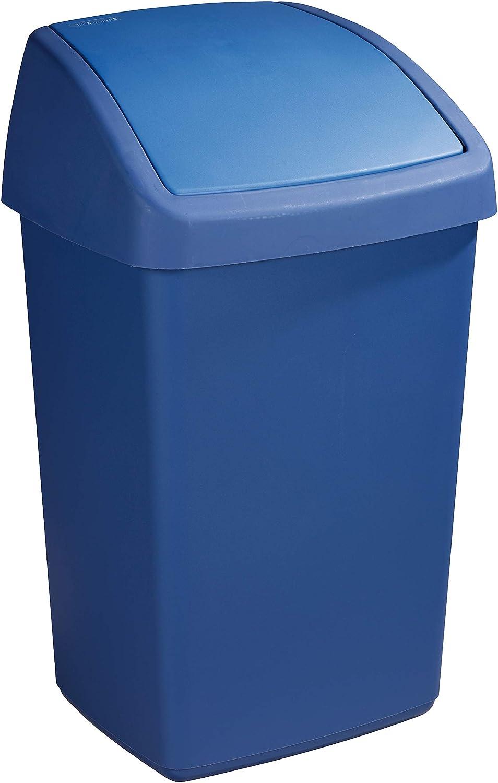 Sunware Delta 50 litros Color Azul Cubo de Basura con Tapa basculante