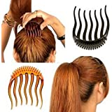 2Pc Magic BUMP IT UP Volume Inserts for Donut ponytail Bumpits Bouffant Do Beehive Dish Styles Hair Comb Pads Base Foam Hair Maker Braid Ponytail Hairstyle Styling Beauty Tool