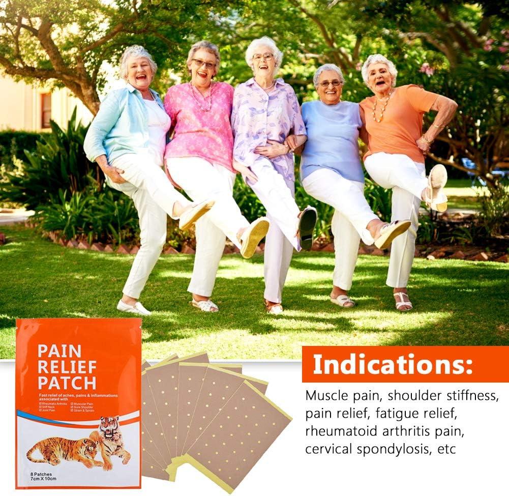 Patch de soulagement de la douleur 8pcs Spondylose cervicale Arthrite Patch de soulagement de la douleur autocollant Soins de l/épaule