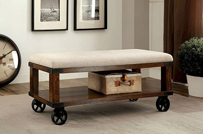 Amazon.com: 247shopathome idf-bn6254 storage-benches, roble ...