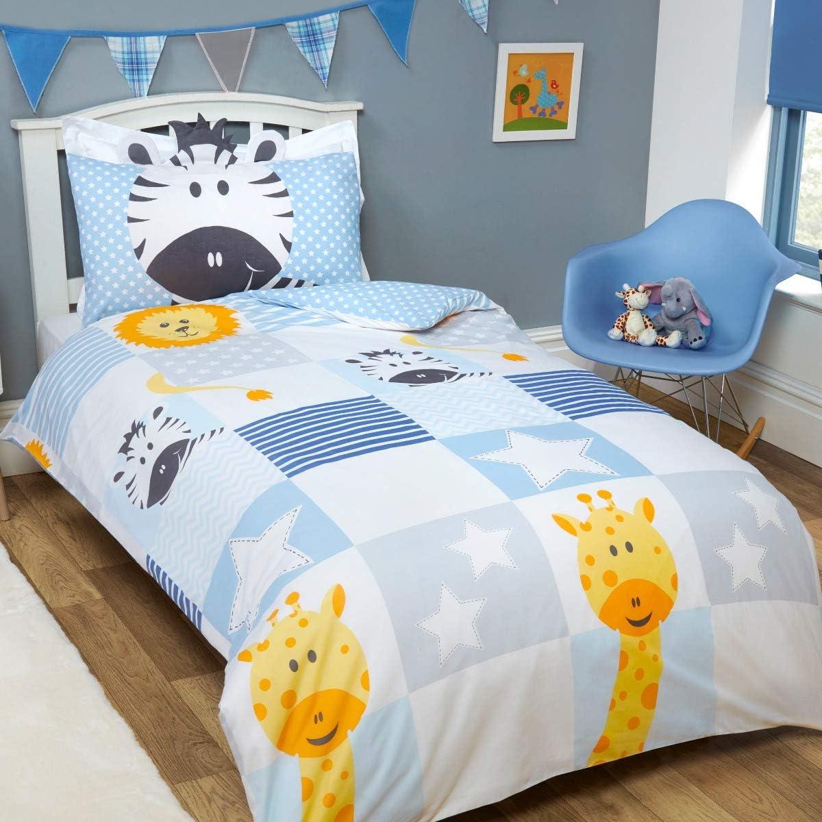 Toddler Patchwork Duvet Cover Bedding Set and Pillowcase Toddler Single Teddy