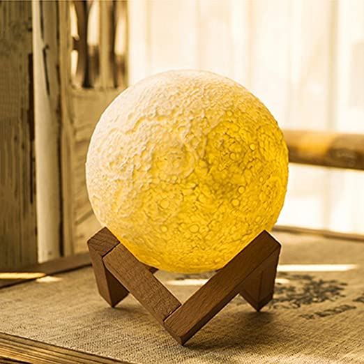 Lampe Von Moonlight Nacht Licht 3d Druck Mond Lunar Usb Ladekabel Nachtlicht Kontrolle Touchscreen Helligkeit Zwei Tone 2 Amazon De Beleuchtung