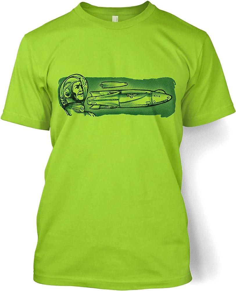 Estrecho espacio cohete – Camiseta de manga corta para hombre Verde Kiwi: Amazon.es: Ropa y accesorios