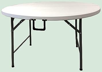 Homelux 710091 Table Pliante en résine Ronde 120 cm Hauteur ...