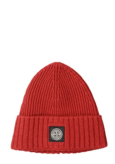 5634db1e561d3 Stone Island Junior N03A6 Kids Beanie in Red  Amazon.co.uk  Clothing