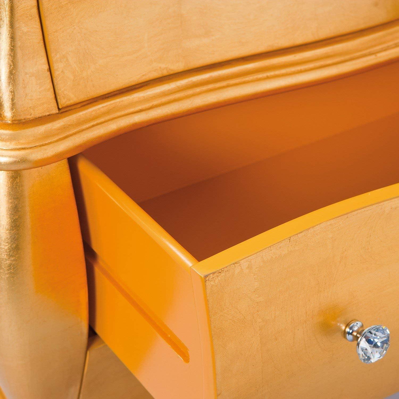 82 x 40 x 73.5 cm Legno Massiccio Oro Esidra Queen A08 Com/ò