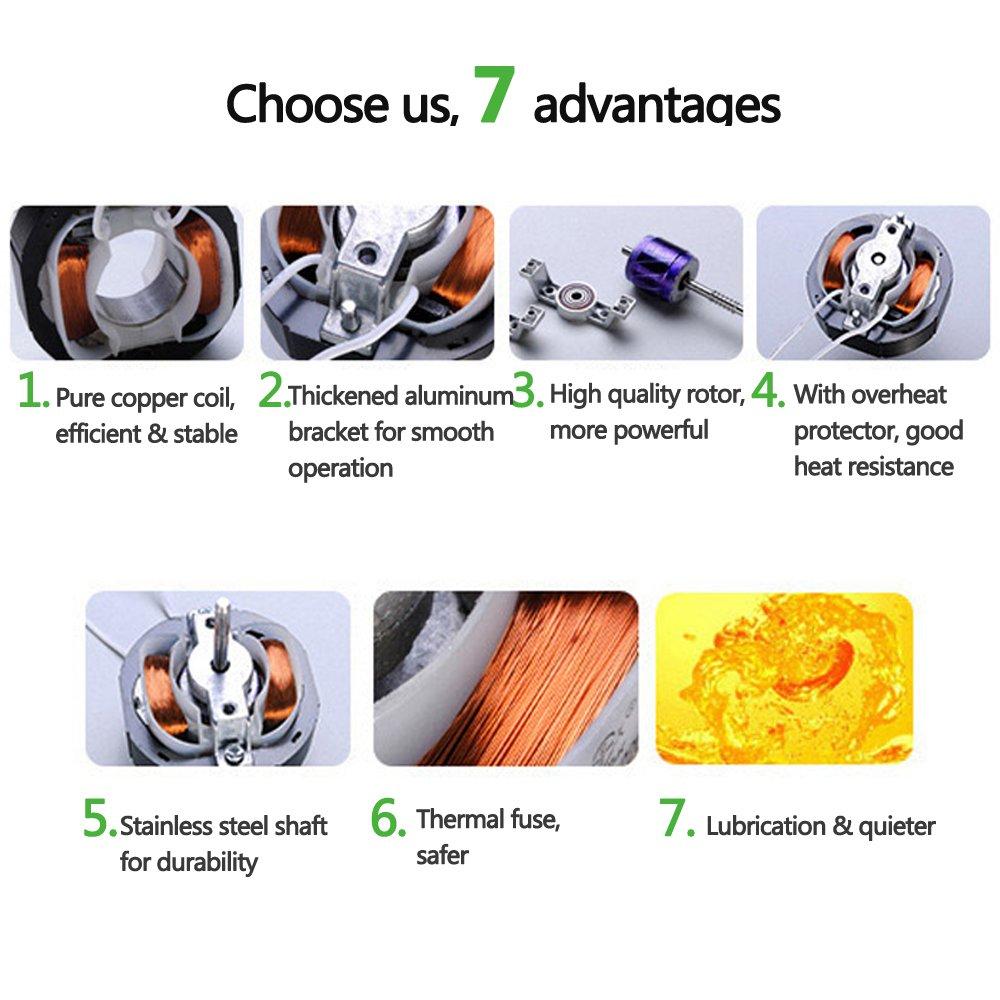 Ventilateur en ligne de 100 mm 12W 130m/³//h /économe en /énergie /à flux mixte pour la circulation de lair dans les conduits d/évacuation