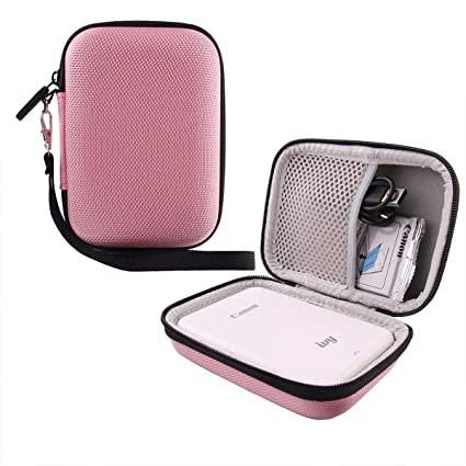 41317fd95a9a Hard EVA Travel Case for Canon Ivy Mobile Mini Photo Printer by WERJIA  (Pink)