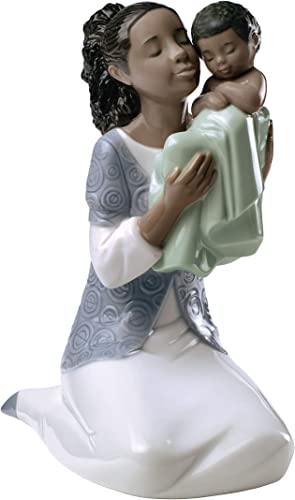 NAO in Loving Arms Tm . Porcelain Mother Figure.