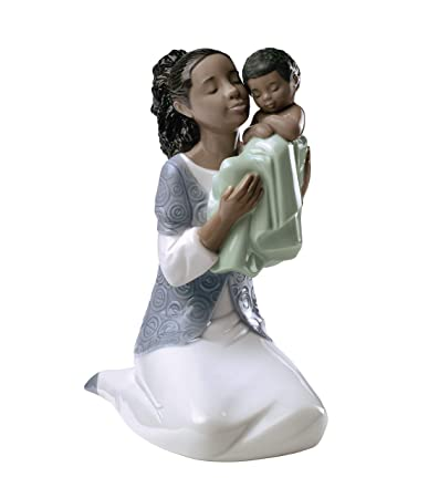 Lladro Nao Porcelain Figurine In Loving Arms