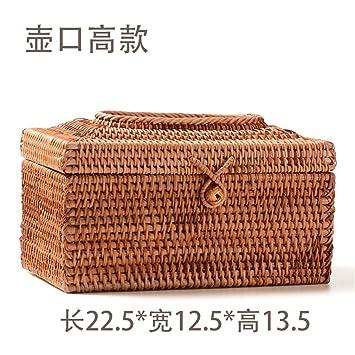 Okcndmm 8 Arten Rattan Handwerk Gewebte Tissue Box F R Auto Antike