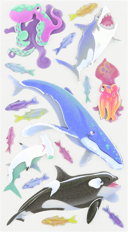 Sticko SHARKS Ocean Scrapbook Stickers