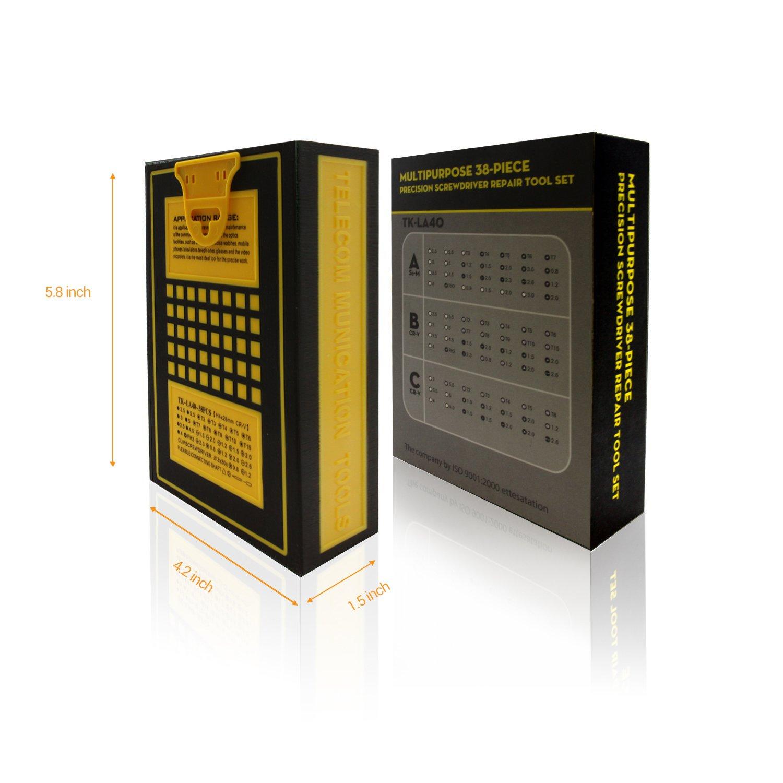 LB1 High Performance New Premium Tools Kit for Asus 15.6'' Touch-Screen Laptop 8GB Memory 1TB Hard Drive Black Q550LF-BBI7T07 Multipurpose 38-Piece Precision Screwdrivers Repair Tools Set by LB1 High Performance (Image #8)