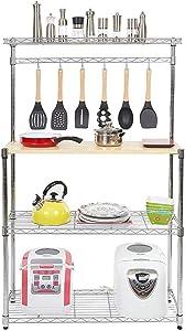 Teeker Baker's Rack for Kitchens,Microwave Stand Storage Rack,Kitchen Cart Storage Organizer Shelf Workstation
