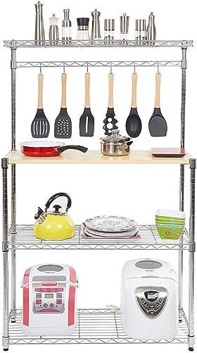 Metal Bakers Rack Organizer Stand Shelf Kitchen Microwave Cart Storage Countertop Dorm Microwave Stand Kitchen Storage Shelving