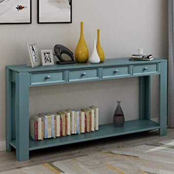 Amazon Com Console Table For Entryway Hallway 64 Sideboard With