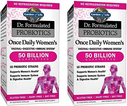 Amazon Com Garden Of Life 2 Pack Dr Formulated Probiotics Once Daily Women S 30 Vegetarian Capsules Health Personal Care