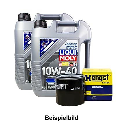 Set 10L de aceite LIQUI MOLY 10 W de 40 + caballo semental de aceite