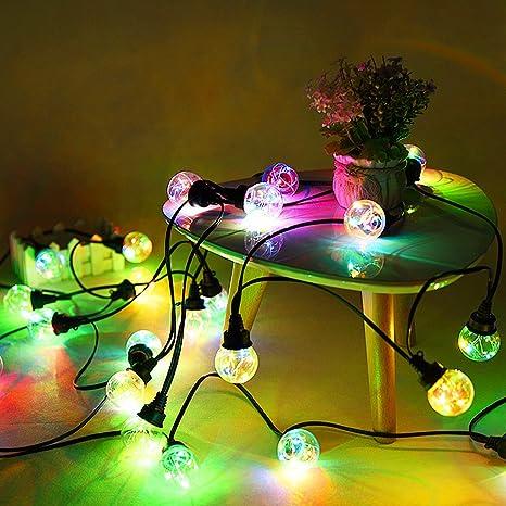 Bombillas impermeables LED luces de hadas - ELINKUME 5M / 16.4ft 12 bombillas G45 luces
