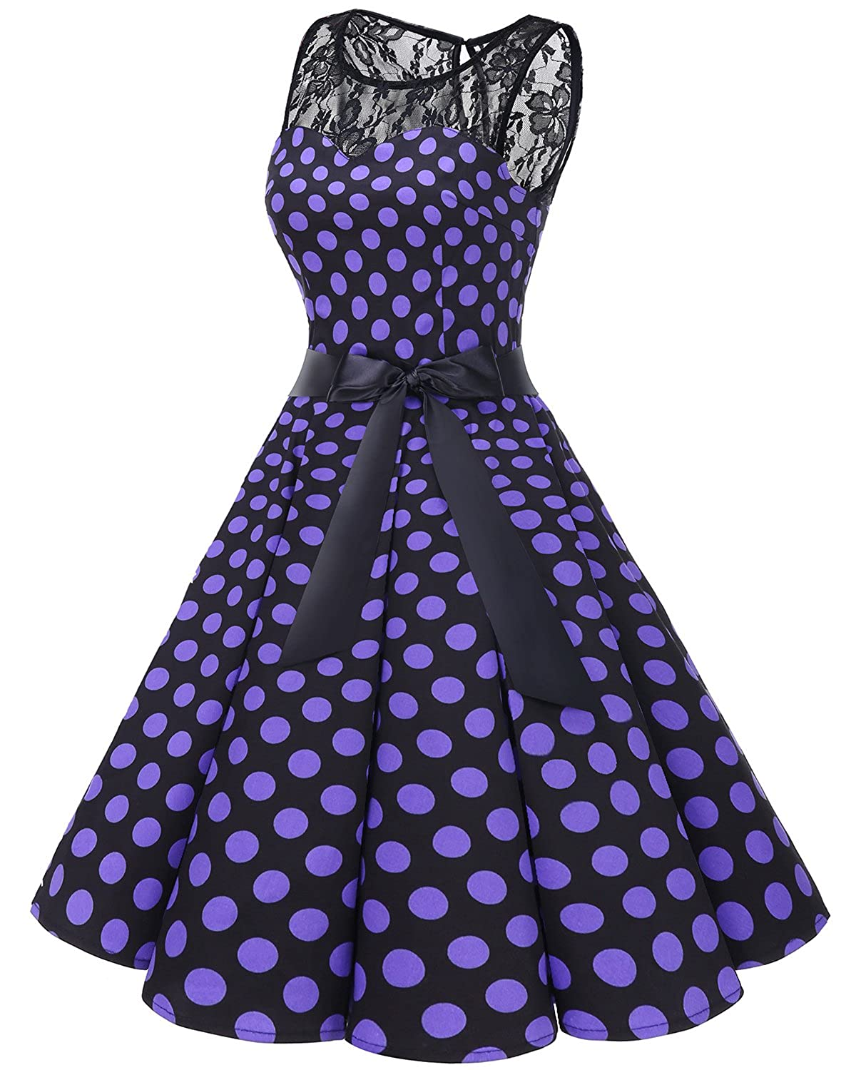 Bbonlinedress Women s 1950s Vintage Rockabilly Swing Dress Lace Cocktail  Prom Party Dress at Amazon Women s Clothing store  4f0ac854a2cd