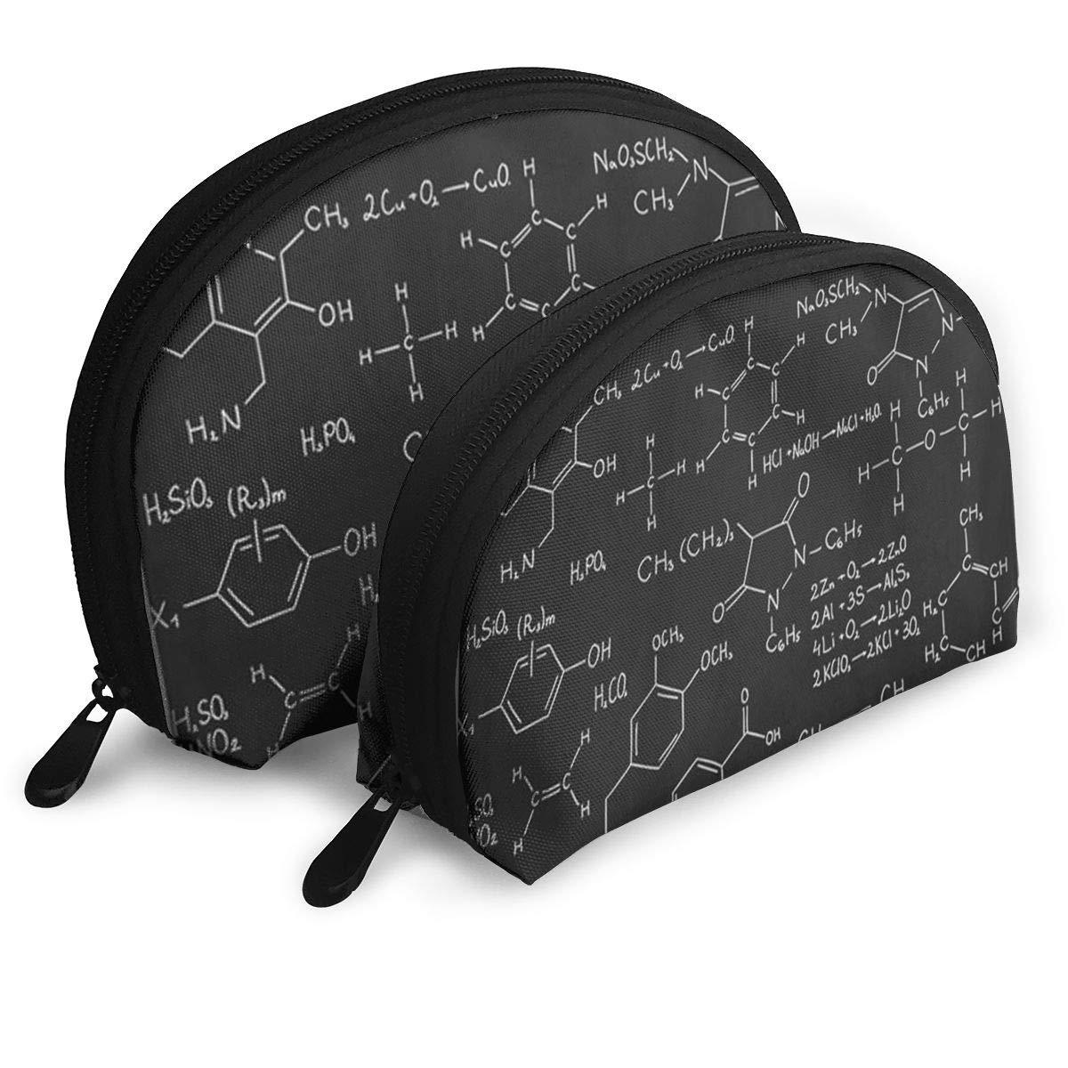 5c115bdf42fb Amazon.com: UYPOPQ Chemistry Formula Cosmetic Bag & Case Portable ...