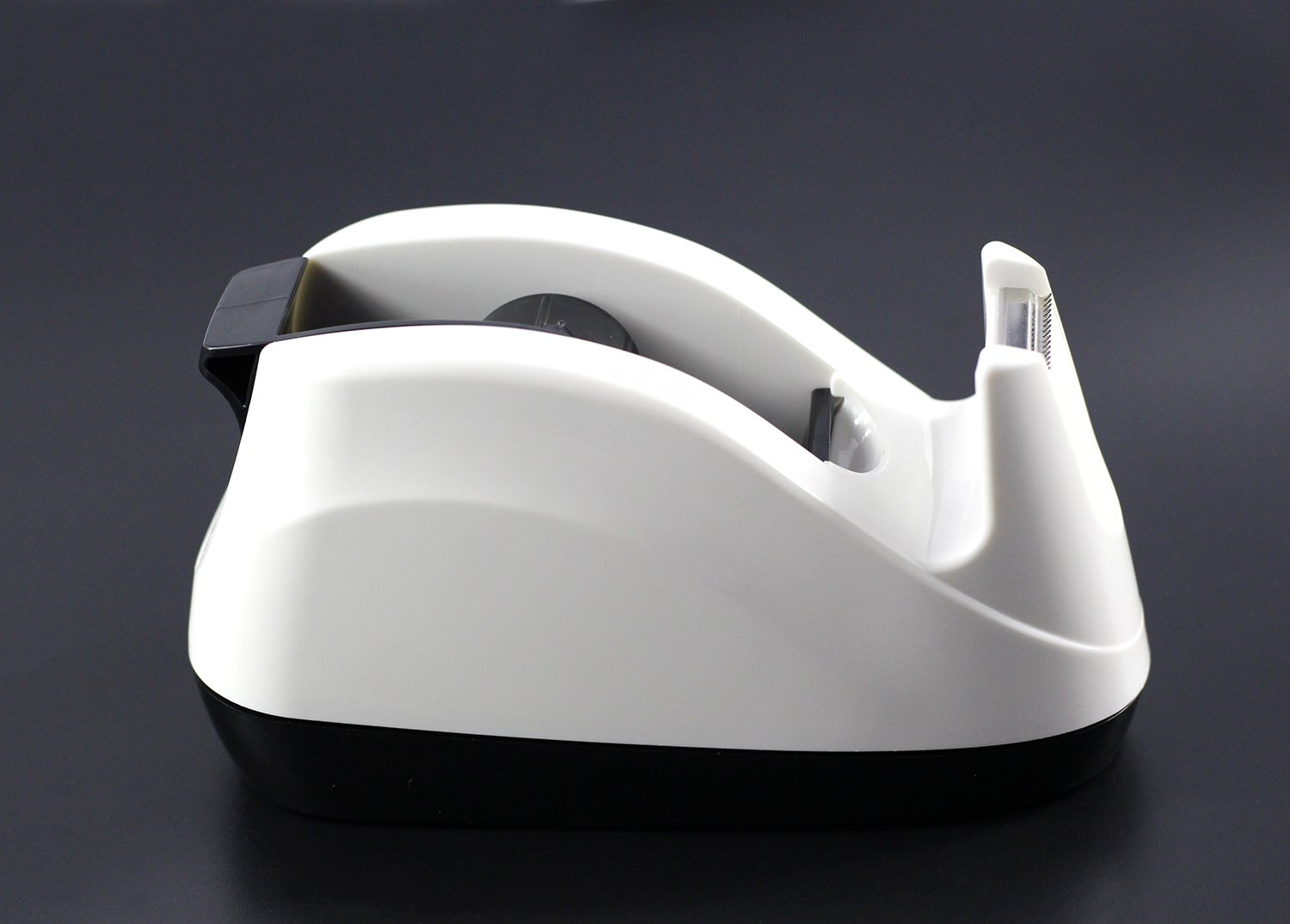 BeeChamp Heavy Base Nonskid Desk Tape Dispenser One-hand Dispensing (White) BC-TD