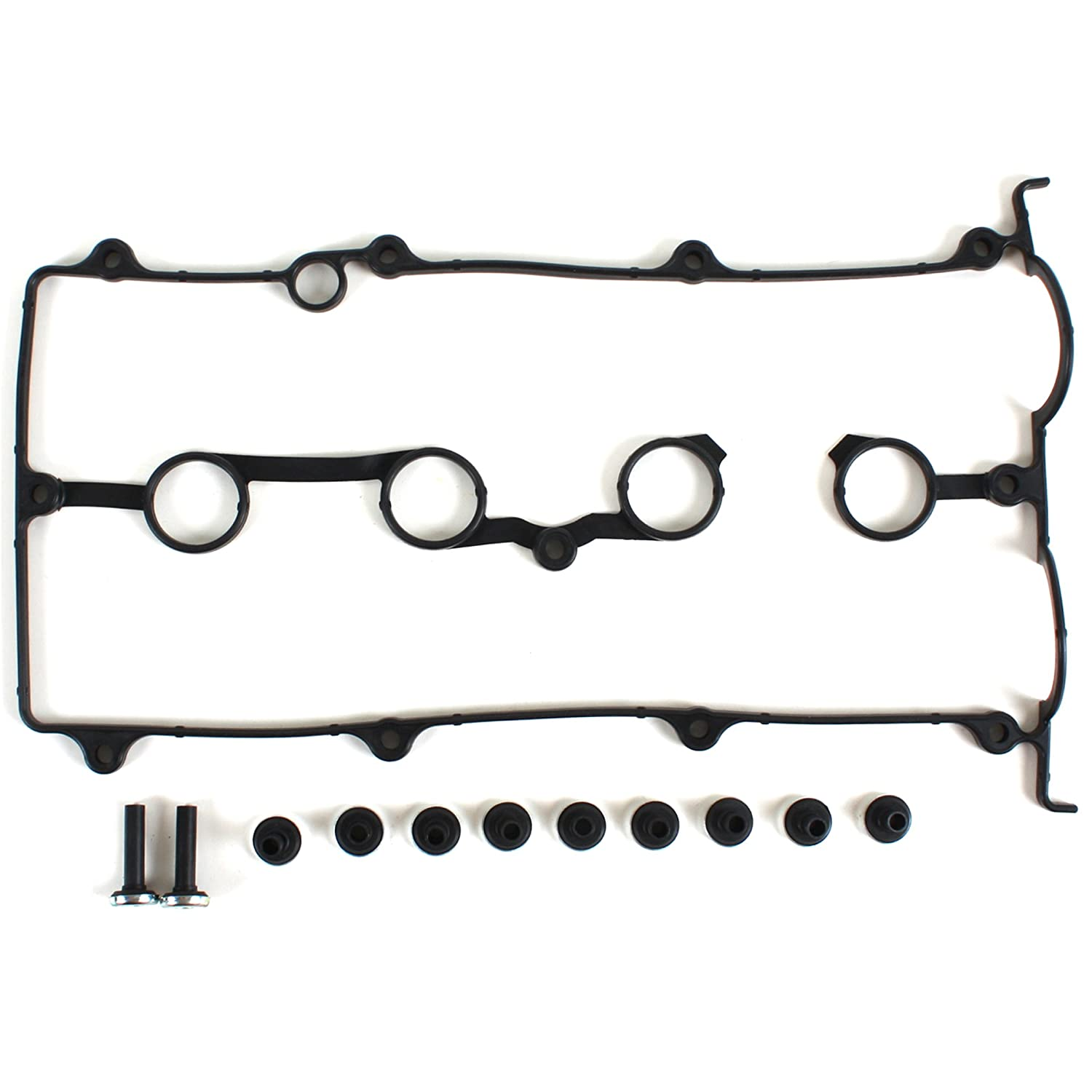 NEW VC440 Engine Valve Cover Gasket Set (w/ Spark Plug Seal and Grommets) for Mazda DOHC L4 1.8L FP & 2.0L 626 FS engine models 98-03 CNS EngineParts