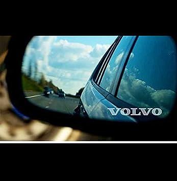 Volvo 2 X Spiegelaufkleber Aus Milchglasfolie Aufkleber Aus Frostfolie Milchglas Frost Wie Graviert Gravur Sticker Vinyl Decals Stickers Spiegel Rückspiegel Seitenspiegel Von Myrockshi Auto