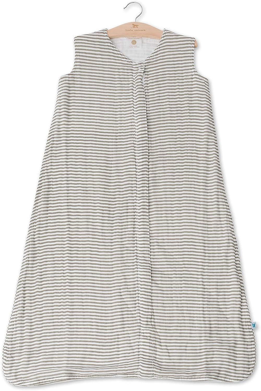 Little Unicorn Cotton Muslin X-Large Sleep Bag Grey Stripe