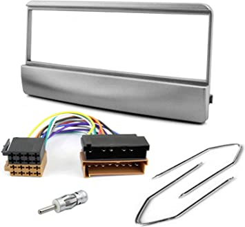 Sound-Way Kit Montaje Autoradio, Marco 1 DIN Radio para Coche, Cable Adaptador Conector ISO, Adaptador Antena, Llaves de Montaje Compatible con Ford ...
