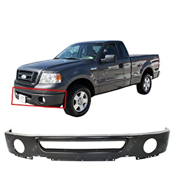 Mbi Auto Primered Steel Front Bumper Face Bar Fascia Shell For 2006 2007 2008 Ford F150 Pickup 06 08 W Fog Fo1002401
