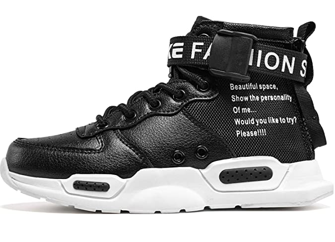 7466aad951282f Amazon.com   Elaphurus Mens Mid Basketball Shoes Outdoor Trainers Fashion  Sneaker   Fashion Sneakers