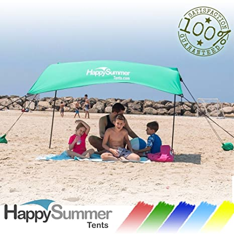 HappySummer Beach Tent with sandbag anchorsu2014the portable lightweight 100% lycra SunShelter & Amazon.com: HappySummer Beach Tent with sandbag anchorsu2014the ...