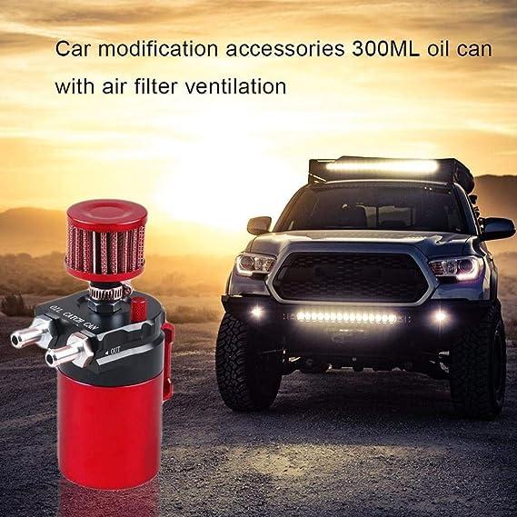 Color : Black GHDBHFD Universal-300ML Aluminium Auto-Motor Oil Catch Can Kit Luft /Öl Separator Tankzylinder Baffled Reservoir