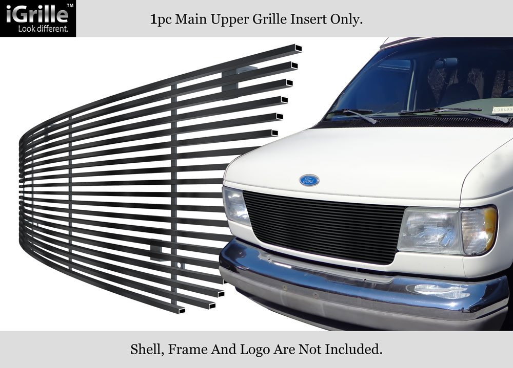 APS Fits 1992-2007 Ford Econoline Van 15 Bars Black Stainless Steel Billet Grille #F85020J
