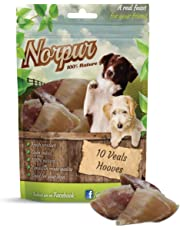 Norpur Veal Hooves for Dogs (10-Count) All Natural, Oven-Baked Chew Bone Treats | No Additives or Preservatives | Nutritious | Promote Dental Health