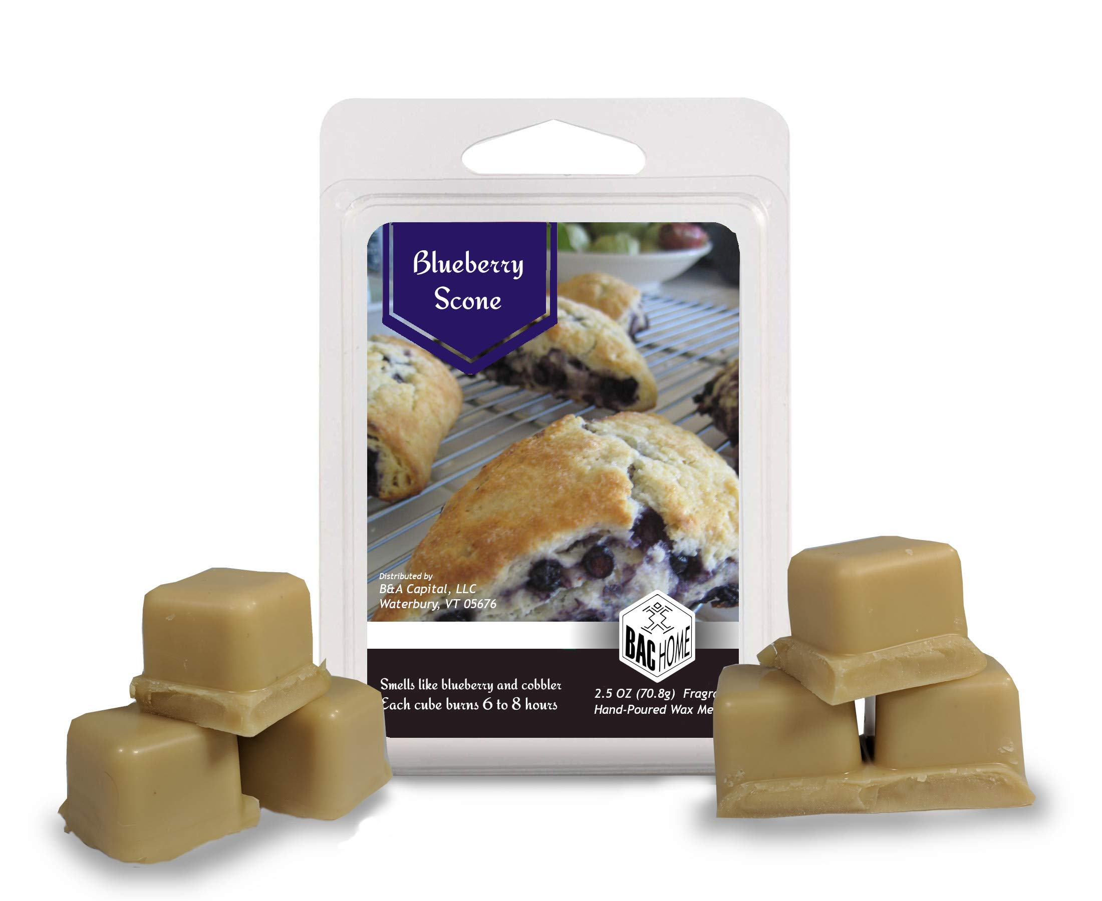 4 Pack - Cafe Bakery Soy Blend Scented Wax Melts Wax Cubes, 10.0 oz, [24 Cubes] with Coffee Shop, Blue Berry Scone, Maple Pumpkin Muffin and Cafe Doughnuts by BAC Home (Image #2)
