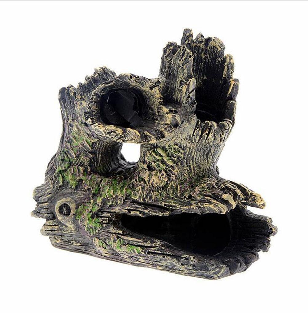 WYXIN Acuario Crystal Shrimp Evite Casa Roots Tree Log House Hueco ...