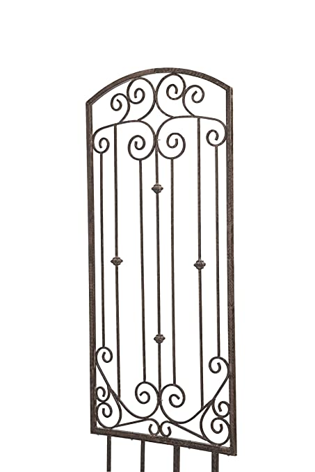 H Potter Large Garden Trellis Wrought Iron Heavy Scroll Metal Decoration  Weather Resistant Lawn, Patio