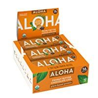 Deals on 12-Ct ALOHA Organic Plant Based Protein Bars Peanut Butter 1.9oz