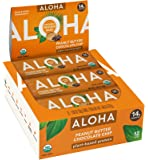 ALOHA Organic Plant Based Protein Bars |Peanut Butter Chocolate Chip | 12 Count, 1.9oz Bars | Vegan, Low Sugar, Gluten…