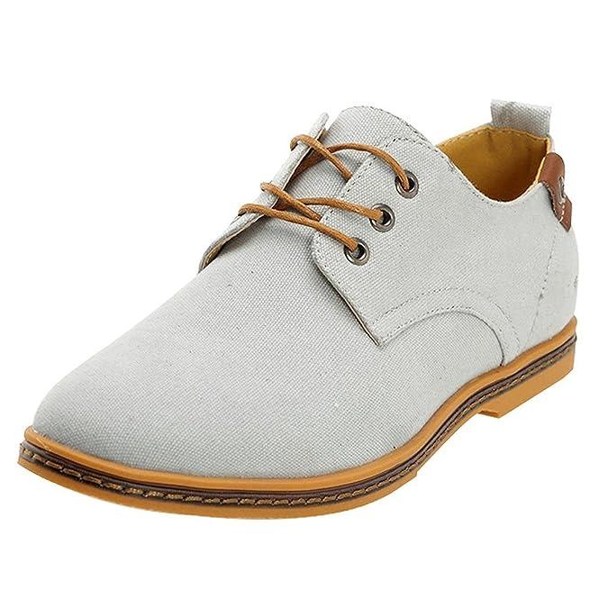 Chaussures ville homme garcon toile Bleu Chaussures de toile Canva Oxfords Shoe FR 39(Taille Fabricant 38) MfEEp2el