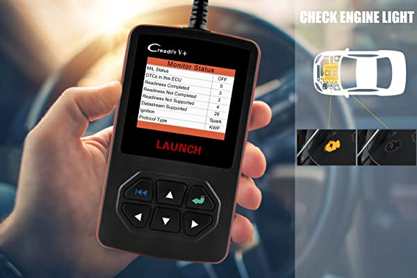Launch Creader V Plus Scan Tool.