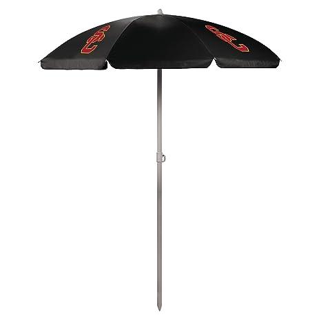 NCAA USC Trojans Portable Sunshade Umbrella, Black