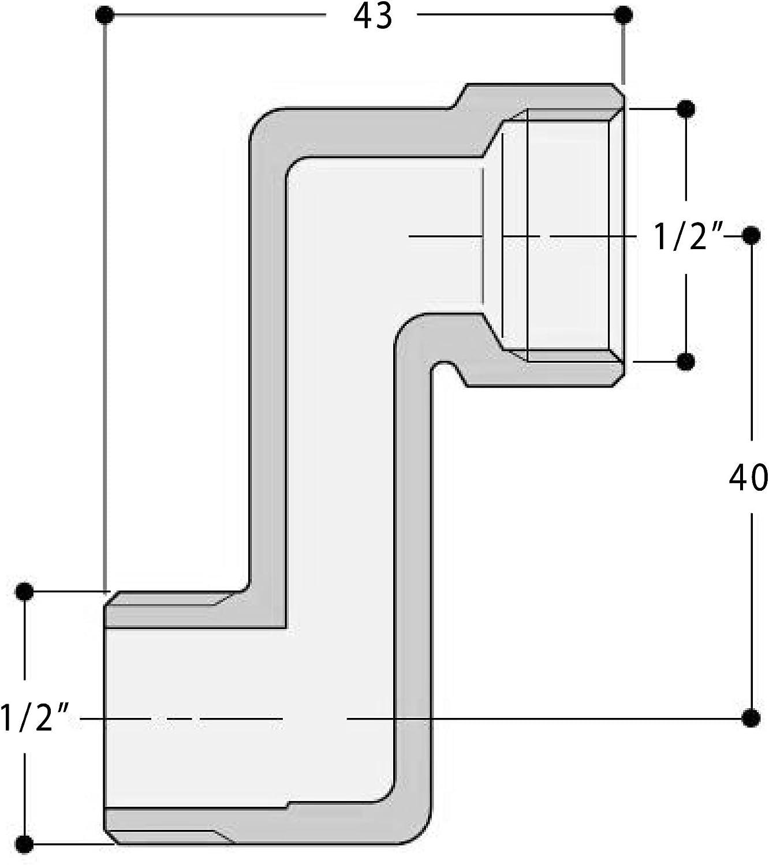 Acquastilla 116838/Raccord excentr/é retrogruppo mm